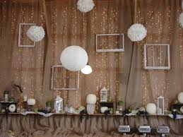 Burlap Wall With Lights Behind Think This Would Be Good For Wedding