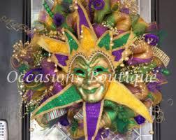 huge limited mardi gras deco mesh wreath mardi gras