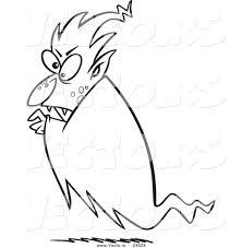 Vector Of A Cartoon Floating Vampire