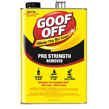 Tile Adhesive Remover Paste by Goof Off 1 Gal Professional Strength Remover Fg657 The Home Depot