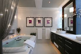 Traditional Bathroom Wall Lights Contemporary With Mirror Soaking Tub Ceiling Lighting