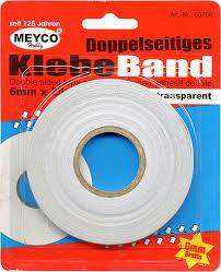 doppelseitiges klebeband 6mm x 25 m transparent klebeband