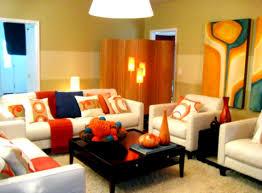 Living RoomVibrant Red Interior With Modern Colour Scheme Also White Storage Units Fresh