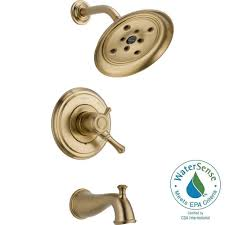 Delta Champagne Bronze Bathroom Faucet by Delta Lahara 2 Handle Deck Mount Roman Tub Faucet Trim Kit Only In