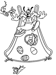 Goofy And Easter Egg Disney Coloring Pages