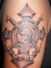 343 St Florian Memorial Tattoo