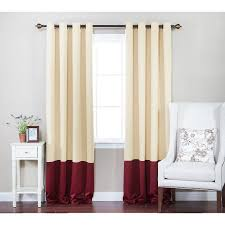 Walmart Grommet Blackout Curtains by Best Home Fashion Colorblock Thermal Insulated Grommet Top
