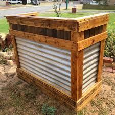 Portable Patio Bar Ideas by Diy Reclaimed Pallet Wood Bar Table Wood Bars Pallet Wood And