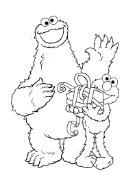 Elmo Coloring Page Printable Pages Sesame Street Free Full Size
