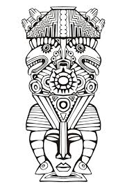 Coloriages Coloriage D 39 Une Fee Kawaii Coloriage Totem Pole