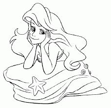 Ariel Princess Coloring Pages Printable