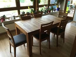 xl esstisch 6 stühle eiche massiv in 74374