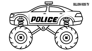 100 Monster Truck Drawing Police Coloring Pages Colors For Kids With Vehicles