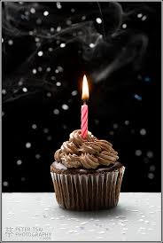 Triple Chocolate Birthday Cupcake