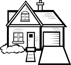 Houses Kids Easy House Coloring Pages