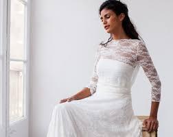Vintage Wedding Dress Lace Romantic Bridal Gown