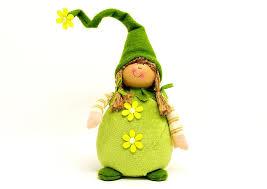 imp musim semi imp deco lucu kerdil hijau manis angka