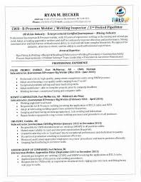 Welding Resume Examples CRXH Sample Welder Letter Collection