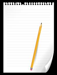 Pencil and Notebook Paper PNG Clipart Picture