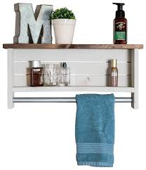 Amazon.com: Drakestone Designs Bathroom Shelf With Towel Bar | Solid ... Contemporary Bathroom Decorating Ideas With Unique Towel Storage And Small Paint Sets Blue Dark Beach Marble Vanity Coral Rug Bars For Bathrooms The New Way Home Decor Diy Rack Modern Picture 29 Holder 20 Really Inspiring Diy 9 Best Racks For 2019 Chic Amazoncom Hd Designs Bath Sky Kitchen Buying Guide How To Choose The Right Hgtv Gatco Fine Bathware Hdware And Accsories Towels Nice Way Of Adding Detail On Towel Without