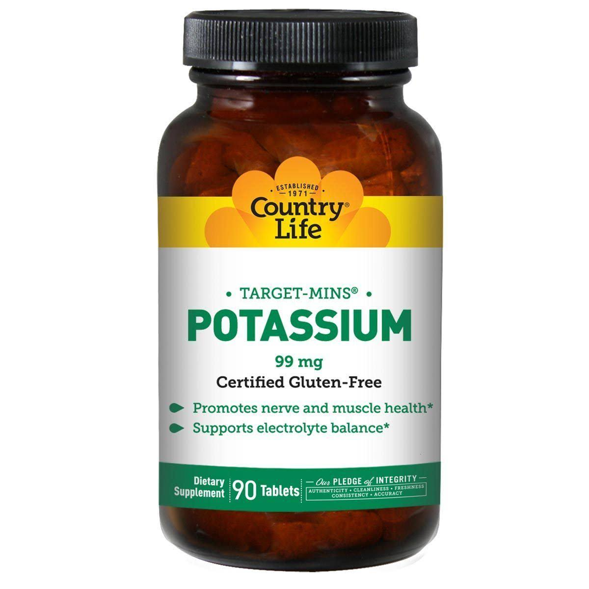 Country Life Target-Mins Potassium - 90 Tablets, 99mg