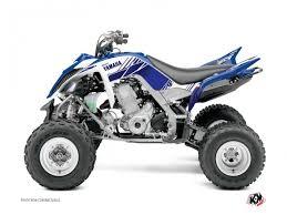 kit deco 250 raptor kit déco stripe yamaha 660 raptor bleu nuit kutvek kit graphik