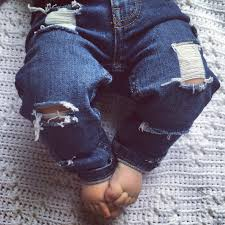made to order custom just shred distressed denim jeans pants baby
