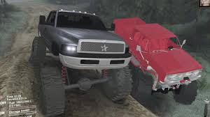 100 Dodge Mud Trucks Spintires Mods VS Chevy Offroad Park Pit