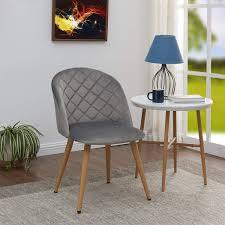 2er set esszimmerstuhl aus stoff samt stuhl retro design polsterstuhl mit rückenlehne metallbeine farbauswahl duhome samtmöbel