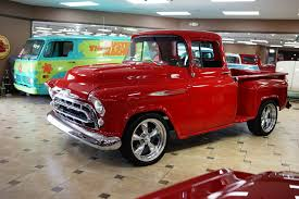1957 Chevrolet 3100 | Ideal Classic Cars LLC 1957 Chevrolet Pick Up Truck 3100 Pickup Snow White Street The Grand Creative Rides For Sale 98011 Mcg A Pastakingly Restored Is On Display At Rk Motors Near O Fallon Illinois 62269 Cameo 283 V8 4 Bbl Fourspeed Youtube 2000515 Hemmings Motor News Flatbed Truck Item Da5535 Sold May 10 Ve Oneofakind With 650 Hp Heads To Auction Bogis Garage Cadillac Michigan 49601