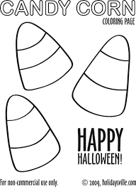 Candy Corn Coloring Page
