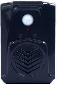 kleiner schwarzer pir infrarot bewegungsmelder scream soundbox mp3 musik gruselige stimme audio lautsprecher mit usb funktion