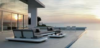 canapé de jardin design salon de jardin extérieur moderne design et stylé