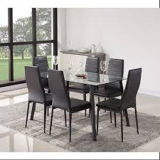ensemble table chaises solis ensemble table à manger 6 personnes 140x80 cm 6 chaises en