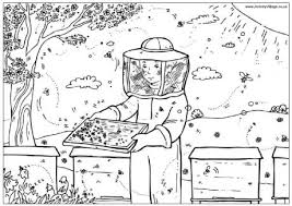Heres A Fun Coloring Sheet All About The BEES D For Kids Of