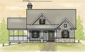 Small Southern Cottage Style House Plan Rustic