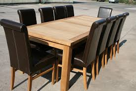 Large Oak Dining Room Table Seats 10 12 14 Chairs EBay Chair Size