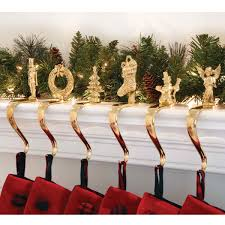 Fireplace Stocking Holders | FirePlace Ideas Decorating Rustic Stocking Holders With Pottery Barn Holder Christmas Stockings Forids Velvet Mantel Hangers Christmas Stocking Holder By Ohhappydayco Heavy Decor Metal For Mantle North Pole Shing Season Shop Silver Reindeer Hook Streamlined Reindeer Glistens Hanger