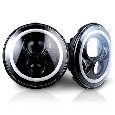sale 7 led headlights bulb with halo eye ring drl turn