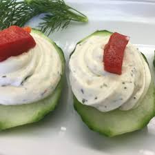 cucumber canapes cucumber canape with herbed cheese naturefresh farms
