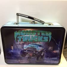 100 Monster Truck Lunch Box Tin Toys Games Action Figures