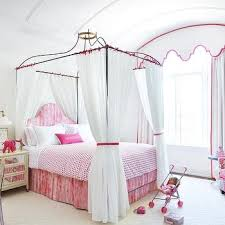 Twin Metal Canopy Bed White With Curtains by Canopy Beds For Twin Girls French U0027s Room Walsh Design Group
