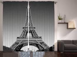 gardine schlafzimmer kräuselband vorhang mit schlaufen und haken abakuhaus eiffelturm landmark kaufen otto