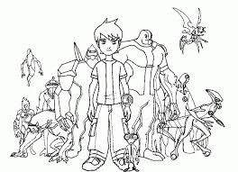 Free Ben 10 Coloring Pages 18fg11