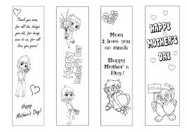 Mothers Day Bookmarks For Coloring Bible Bookmark Pages