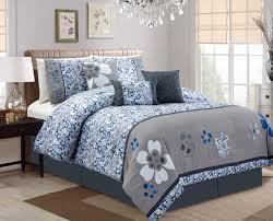 Cherry Blossom Curtain Panels by Piece Cherry Blossom Blue Gray Comforter Set