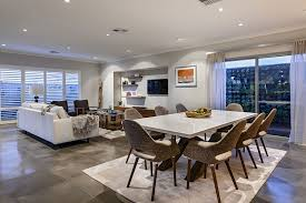 Spacious Dining Room Complements The Style Of Living Area Perfectly