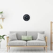 3 x wanduhr rund 20cm kleine uhr küchenuhr wohnzimmeruhr
