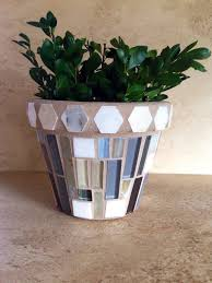 Indoor Planter Mosaic Flower Pot Outdoor Patio Rustic