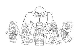 Joyous Lego Avengers Coloring Pages